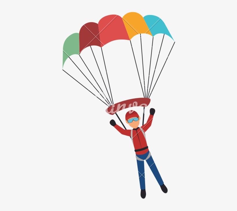 Parachute Png Pic - Parachute Man, transparent png #584859