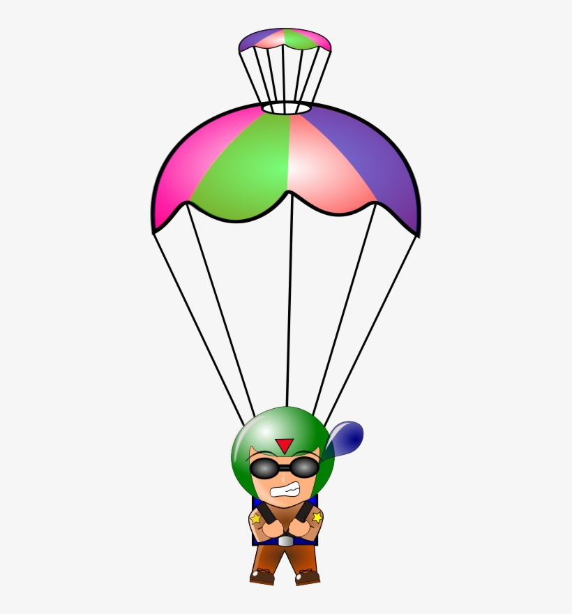 Png Free Stock Jumper Free On Dumielauxepices Net - Parachute Clipart, transparent png #585497