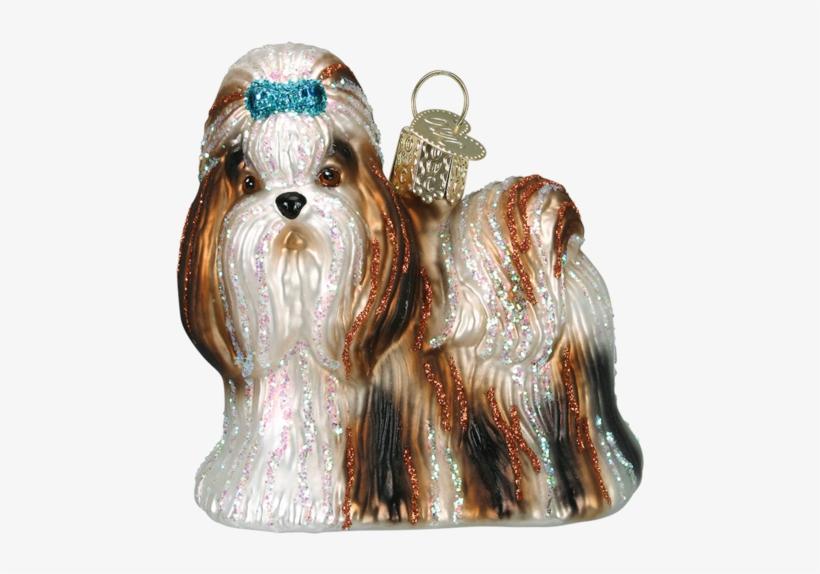 Old World Christmas Shih Tzu Dog Glass Blown Ornament - Old World Christmas Shih Tzu Glass Ornament, transparent png #586236