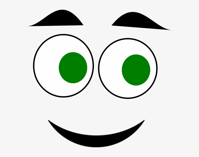 Eyes happy. Green clipart clip art