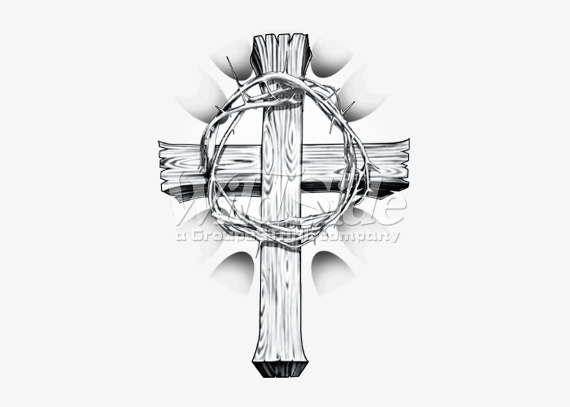 Cross With Crown Of Thorns, transparent png #589257