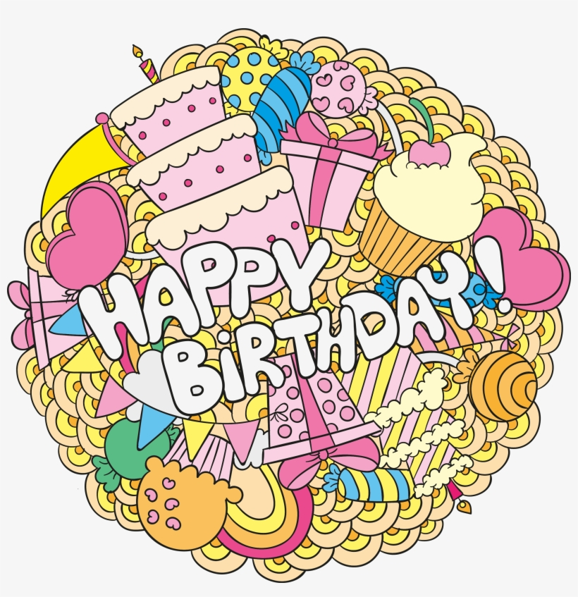 Birthday Cake Greeting Card Happy Birthday To You - Png Birthday Cartoon Cards, transparent png #5802183