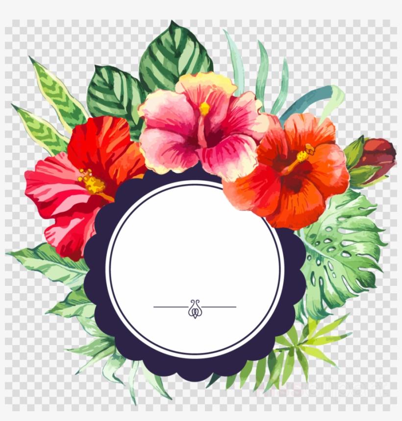 Watercolor Floral Borders Clipart Watercolor - Flower Border Clipart Png, transparent png #5804312