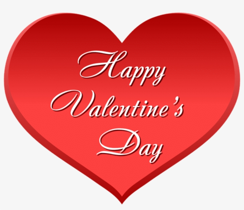 Free Png Happy Valentine's Day Heart Png Images Transparent - Happy Valentine's Day Heart Transparent Background, transparent png #5804735