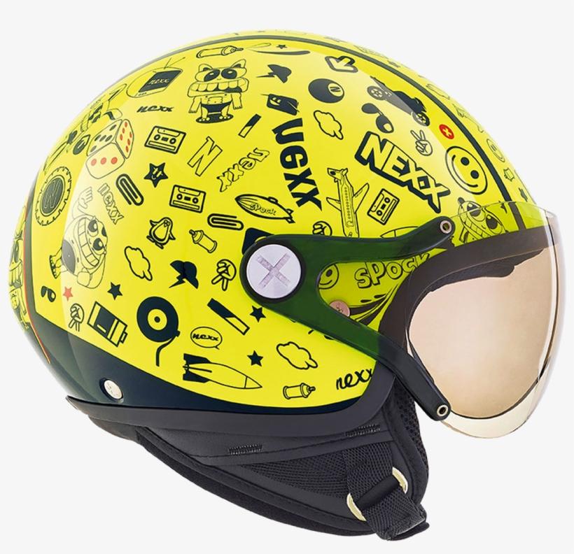 Nexx X60 Kids Spock Neon Yellow Kids Helmets, transparent png #5810510