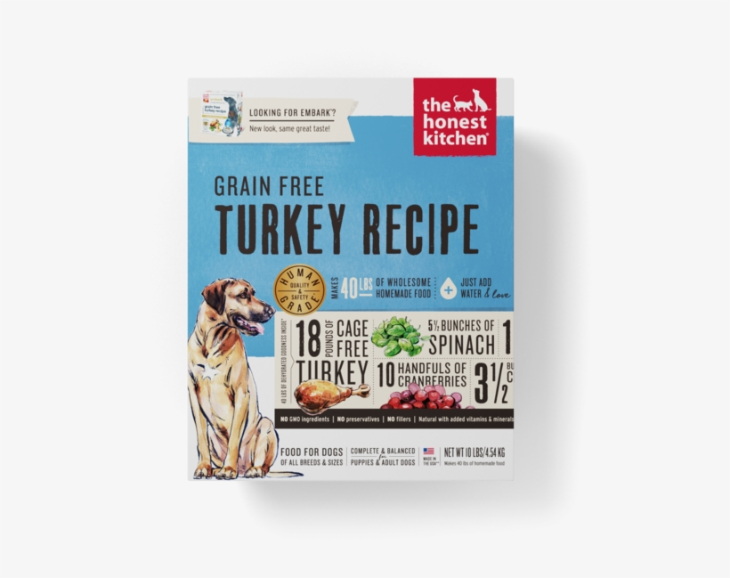 The Honest Kitchen Grain Free Turkey Recipe Dehydrated - The Honest Kitchen Embark Grain Free Turkey Dog Food, transparent png #5821228