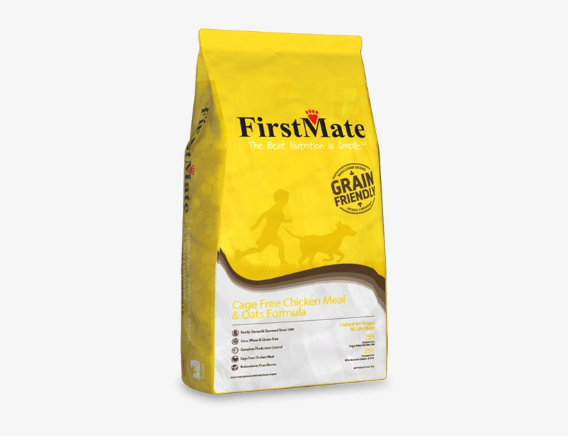 Cage Free Chicken Meal & Oats Formula - First Mate Dog Food Chicken, transparent png #5821403