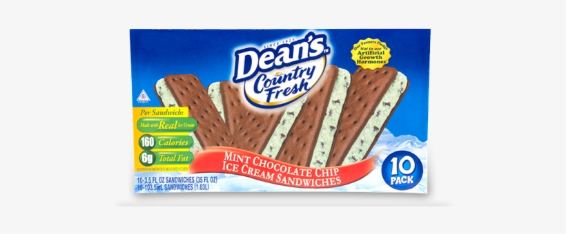 Dean's Country Fresh Mint Chocolate Chip Ice Cream, transparent png #5829839