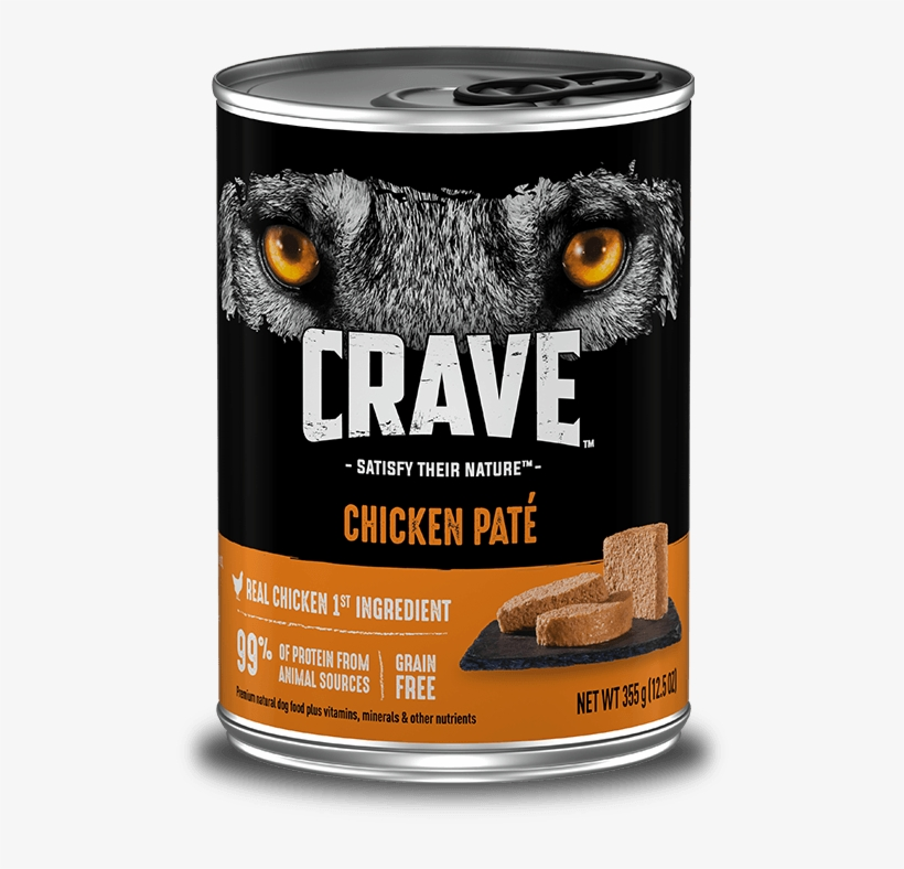 Header Chicken Desktop New - Crave Chicken Pate Dog Food 12.5 Oz. Can, transparent png #5836944