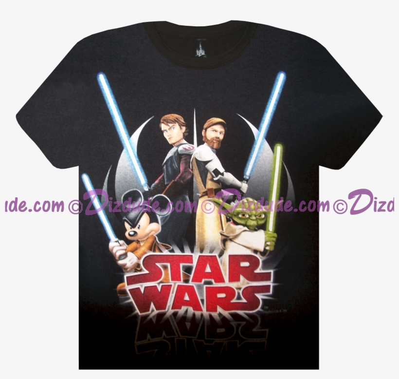 Star Wars / Clone Wars Youth T-shirt In Black With - Star Wars Clone Wars T Shirt, transparent png #5845391