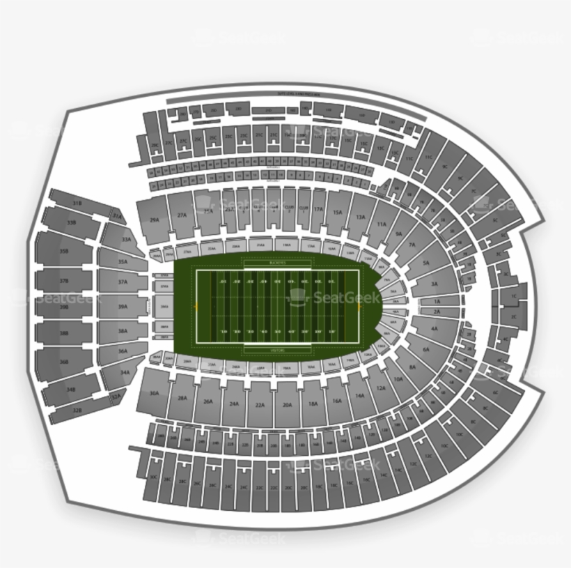 Ohio State Buckeyes Football Seating Chart Map Ohio State