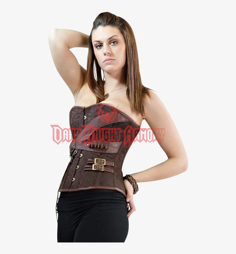 089a59fb05 Steampunk Gunslinger s Brown Overbust Corset - Girl - Free ...