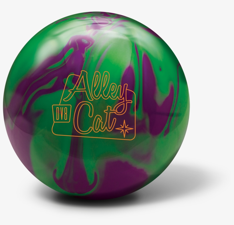 Dv8 Alley Cat Purple Green - Dv8 Alley Cat Bowling Ball- Purple/green (15lbs), transparent png #5862438
