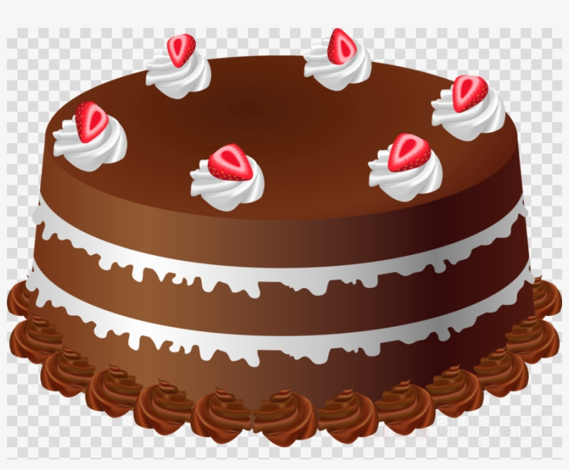 Cake cartoon. Clipart chocolate frosting icing