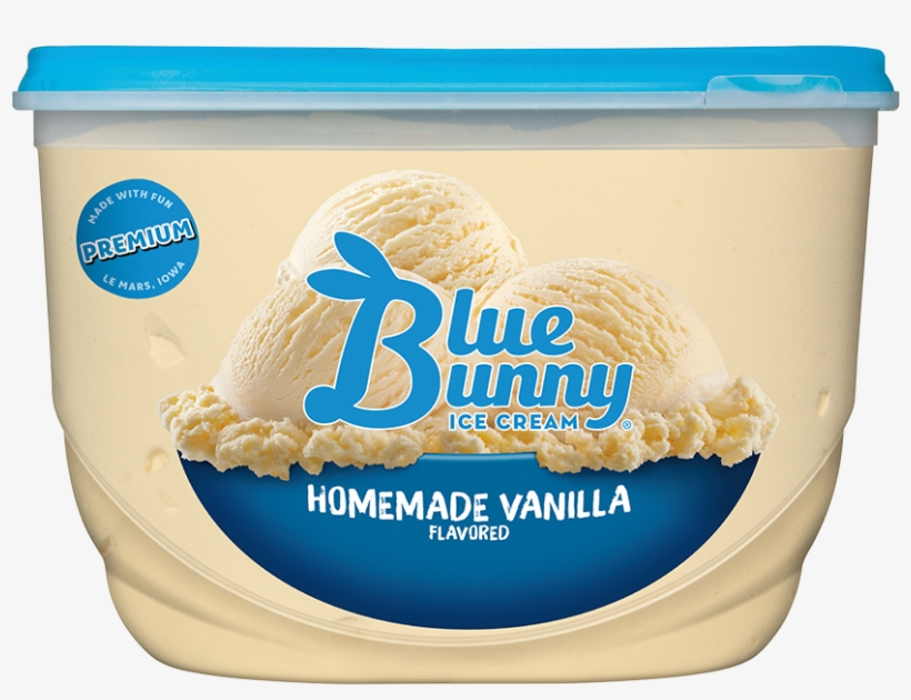 Blue Bunny Homemade Vanilla Ice Cream, transparent png #5872506