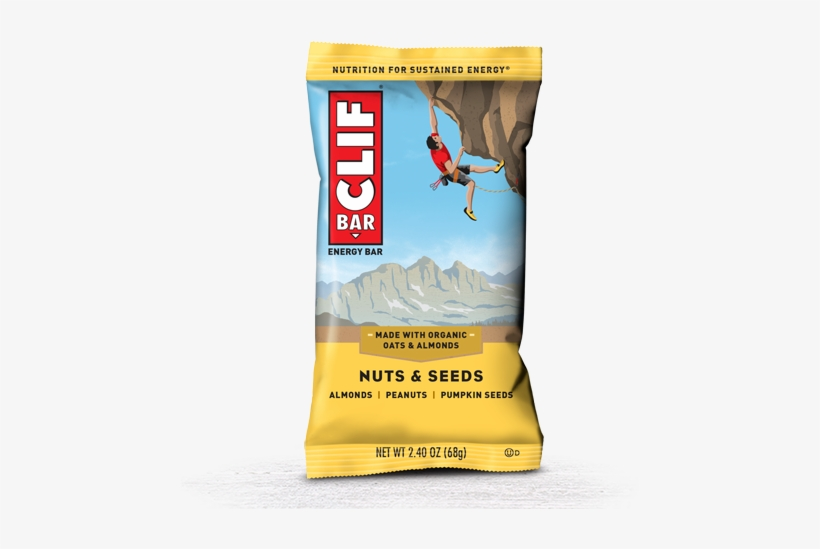 Nuts & Seeds Packaging - Clif Bar Peanut Butter Chocolate, transparent png #5878323