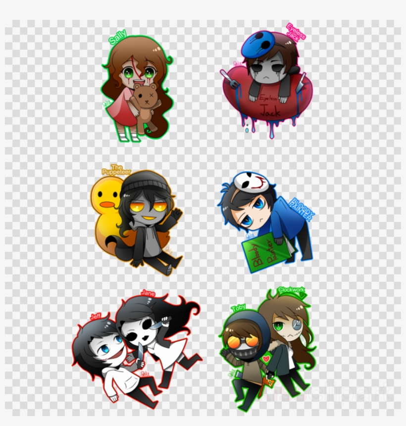 Creepypasta Fighters Roblox Download Chibi Creepypasta Characters Clipart Slenderman Creepypasta Anime Chibi Jack Free Transparent Png Download Pngkey