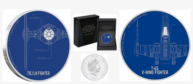 New Zealand Mint Have Added Two More Striking 1oz Silver - 2017 Star Wars Ships - T-65 X-wing Fighter 1oz Silver, transparent png #5887043