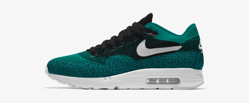Black And Teal Nike Air Max - Nike Air Max 1 Ultra Flyknit Id Men's Shoe, transparent png #590937