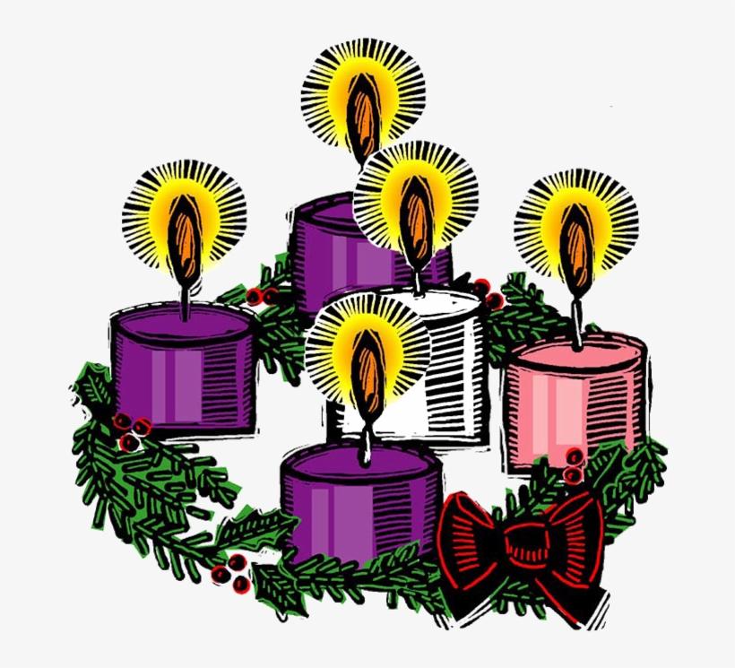 Advent transparent. Light cliparts wreath clipart