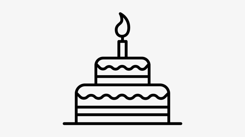 Wondrous Birthday Cake With Candle Vector Birthday Cake Free Funny Birthday Cards Online Elaedamsfinfo