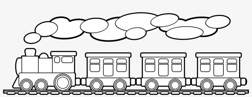 Toy Trains & Train Sets Drawing Solar-powered Calculator - Train Outline Png, transparent png #591837