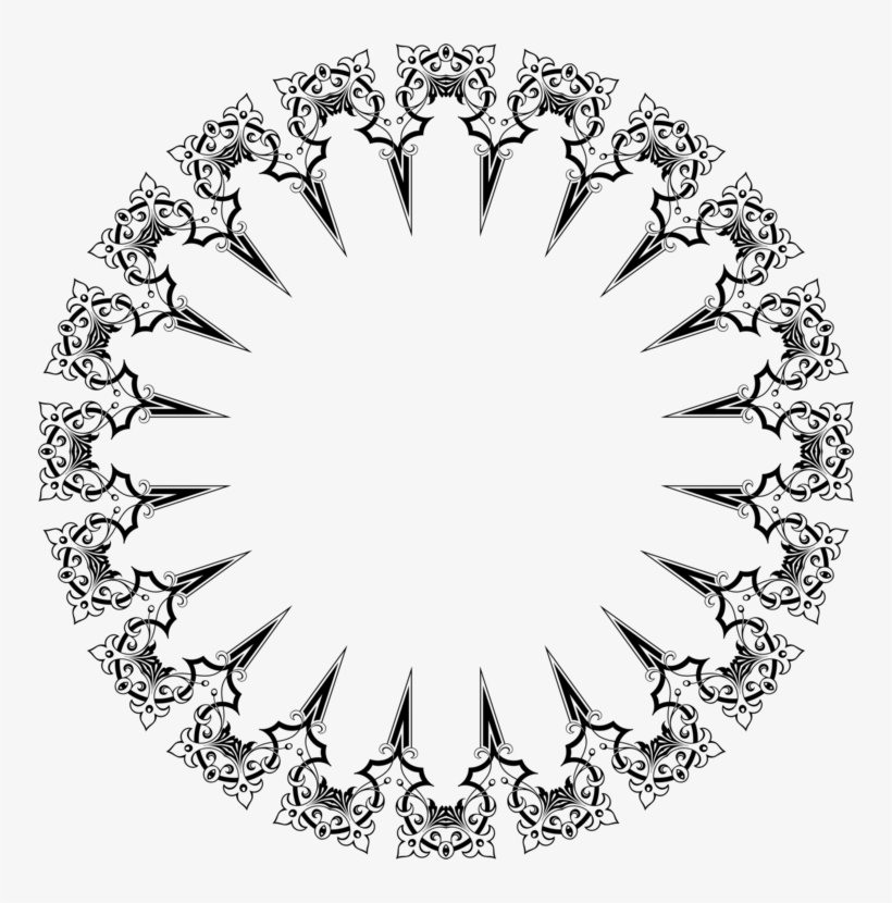 Frame, Celtic Knot, Decorative, Ornamental, Overlapping - Black And White Border Designs Circles Png, transparent png #593831