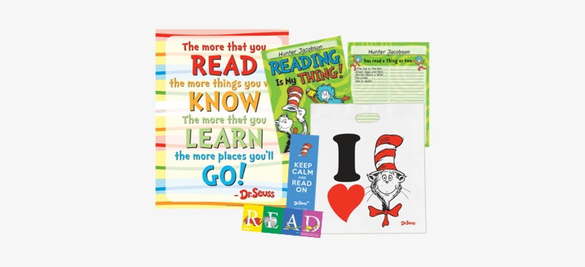 Seuss™ Characters Make Reading Fun - Read Posters For Library, transparent png #594575