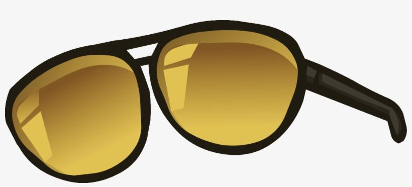 Aviator - Sunglasses - Png - Club Penguin Aviator Sunglasses, transparent png #595113