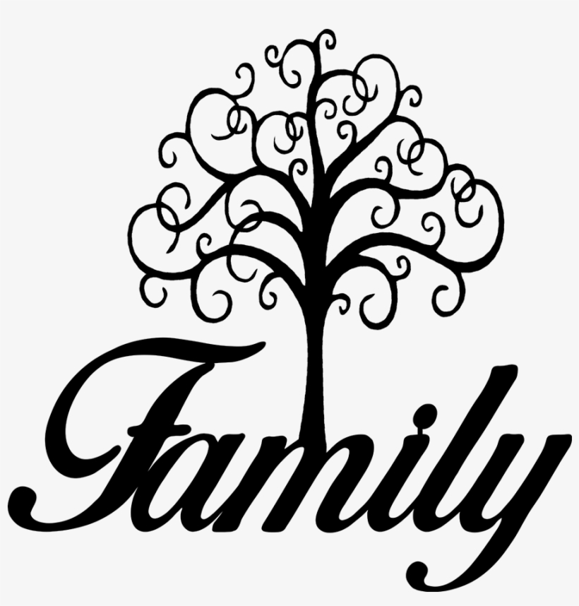 Baker Metalworks - Family Tree Black And White, transparent png #595219