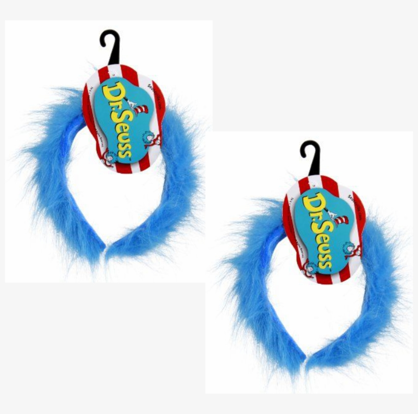 Twins Clipart Character Dr Seuss - Dr. Seuss Thing 1 & 2 Fuzzy Costume Headband Adult, transparent png #595289
