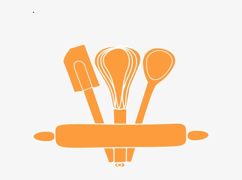 Orange Kitchen Utensils Clip Art At Clker Kitchen Utensils Vector