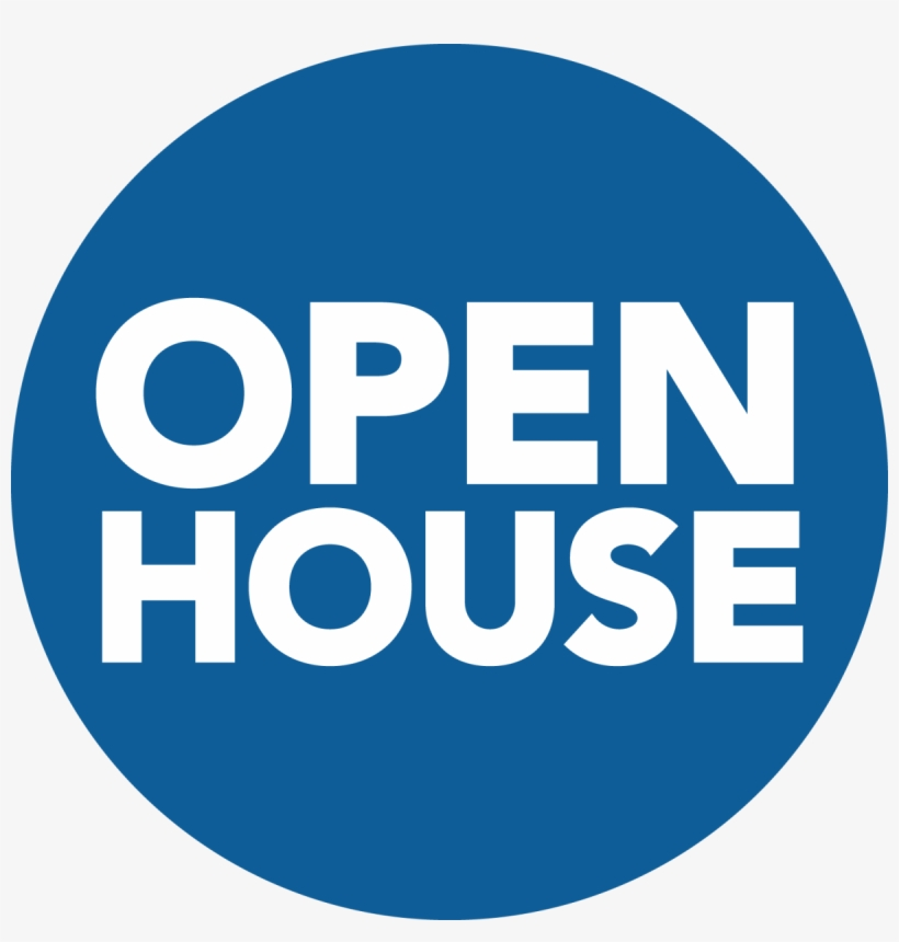 Join Us For An Education Programs Open House - Open House Sign Blue, transparent png #596394