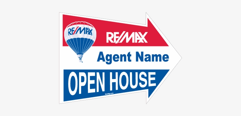 Remax 18in 24in Arrow Open House Directional Sign 510px - Horizontal Pop Up Banner 4 X 2', transparent png #596825