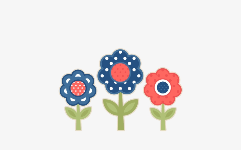 Polka Dot Flowers Svg Scrapbook Cut File Cute Clipart - Cute Flowers For Scrapbook, transparent png #597886
