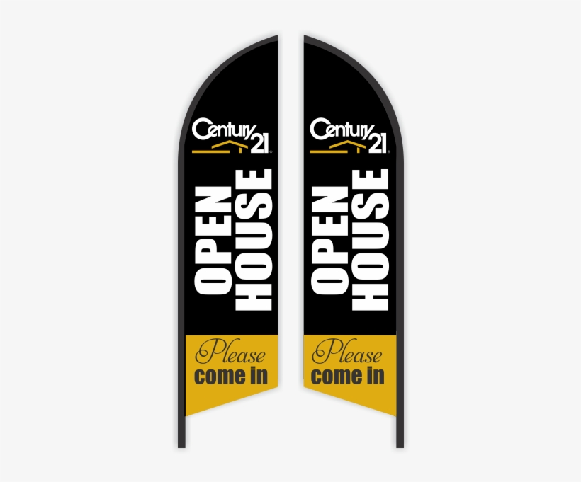 Century 21 Realty Feather Flag - Open House Feather Flags, transparent png #598034
