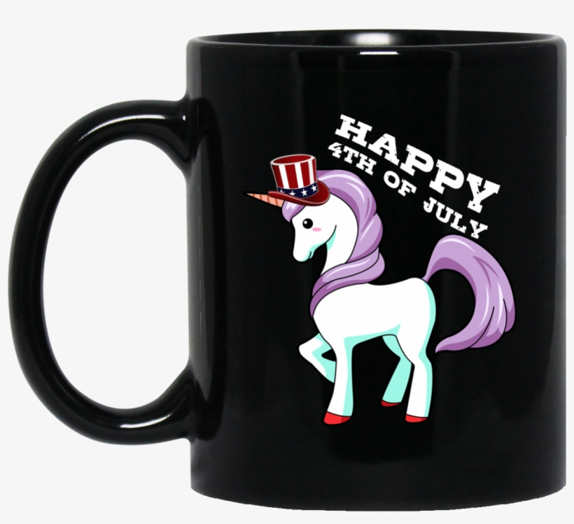 Happy 4th Of July Unicorn Red White Blue Stars Mug - July American Independence Day T Shirt, transparent png #599824