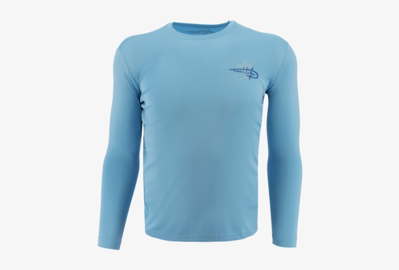 "Men's Performance Rip Tide ""sailfish"" Shirt - Reel Life Mens Rip Tide Sailfish Long Sleeve T-shirt, transparent png #5908400"