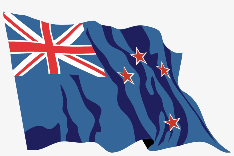 New Zealand Flag Waving Icon - Australia Day And Republic Day, transparent png #5909422