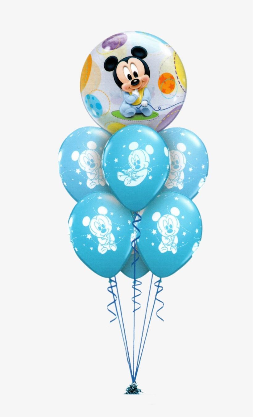 Mickey Mouse Baby Luxury - 22 Bubble Baby Mickey Mouse Balloon, transparent png #5935427