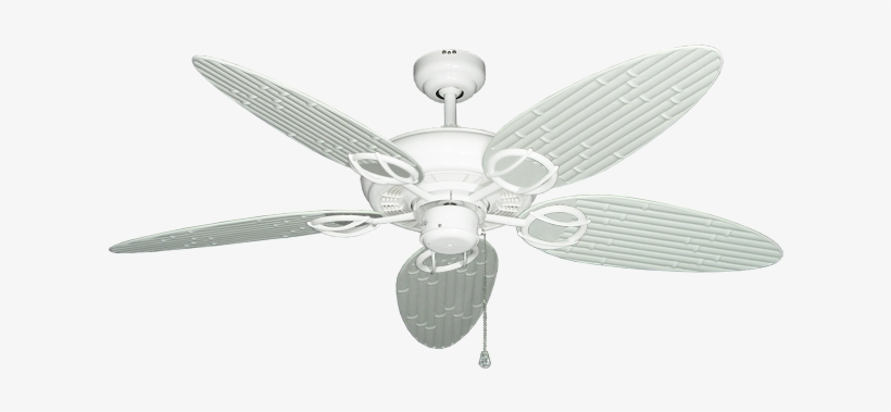 """Trinidad Pure White Ceiling Fan With 52"""" Bamboo Pure - Ceiling Fan, transparent png #5936421"""