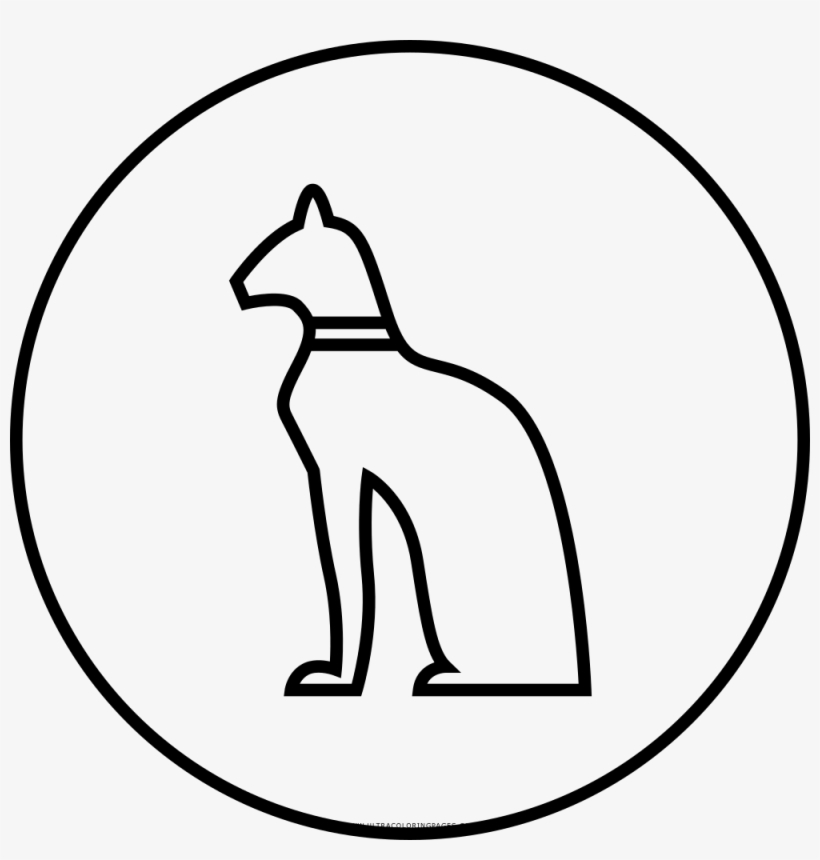 Egyptian Hieroglyphic Cat Coloring Page Free Transparent Png