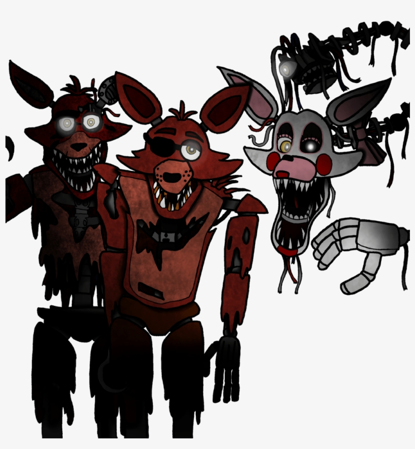 Withered Foxy In Pirate's Cove - Free Transparent PNG