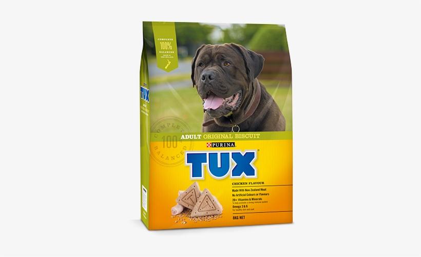 Adult Original Biscuit Chicken Flavour Dog Food - Tux Adult Original Meaty Dry Dog Food 12kg, transparent png #5952098