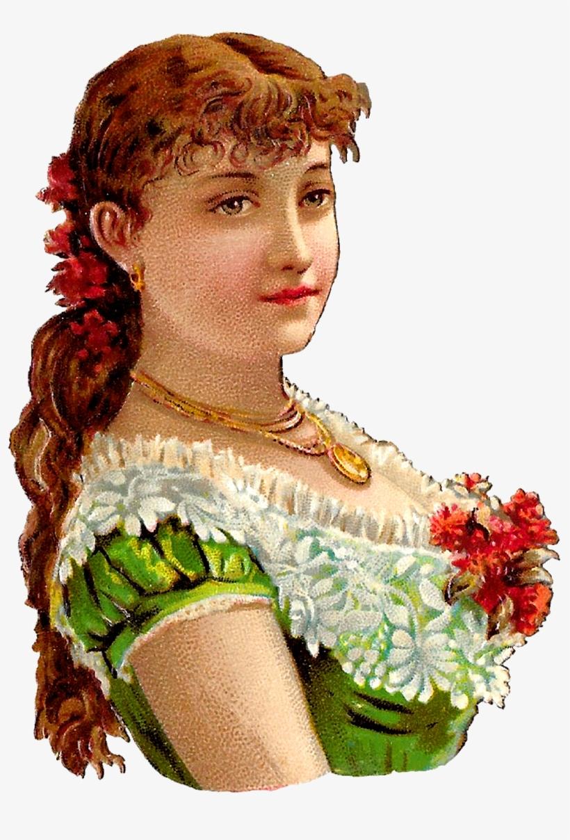 Victorian Woman Clipart Digital Download - Victorian Woman Illustration, transparent png #5963998
