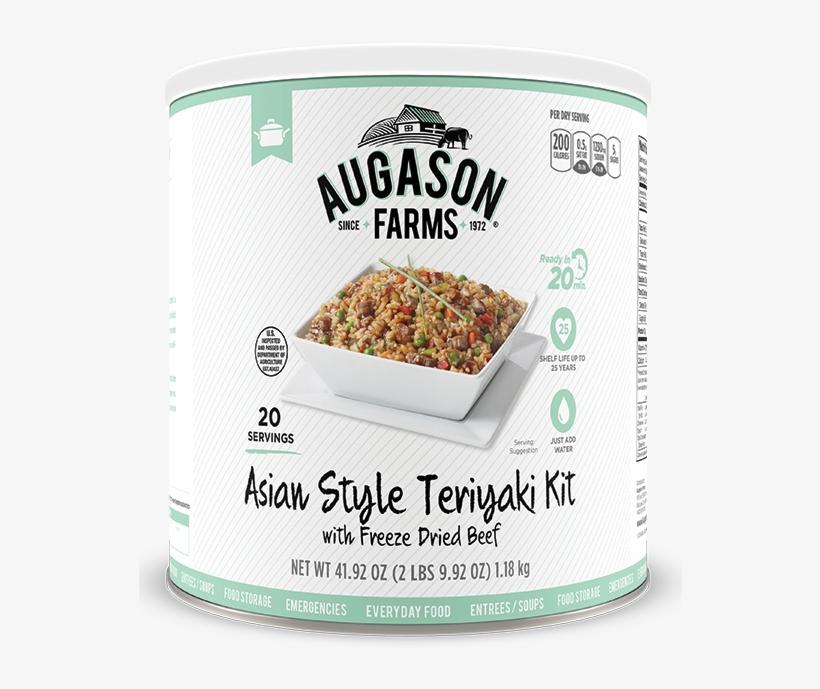 Augason Farms® Asian Style Beef Teriyaki Kit Can - Augason Farms Emergency Food Asian Style Teriyaki, transparent png #5967633