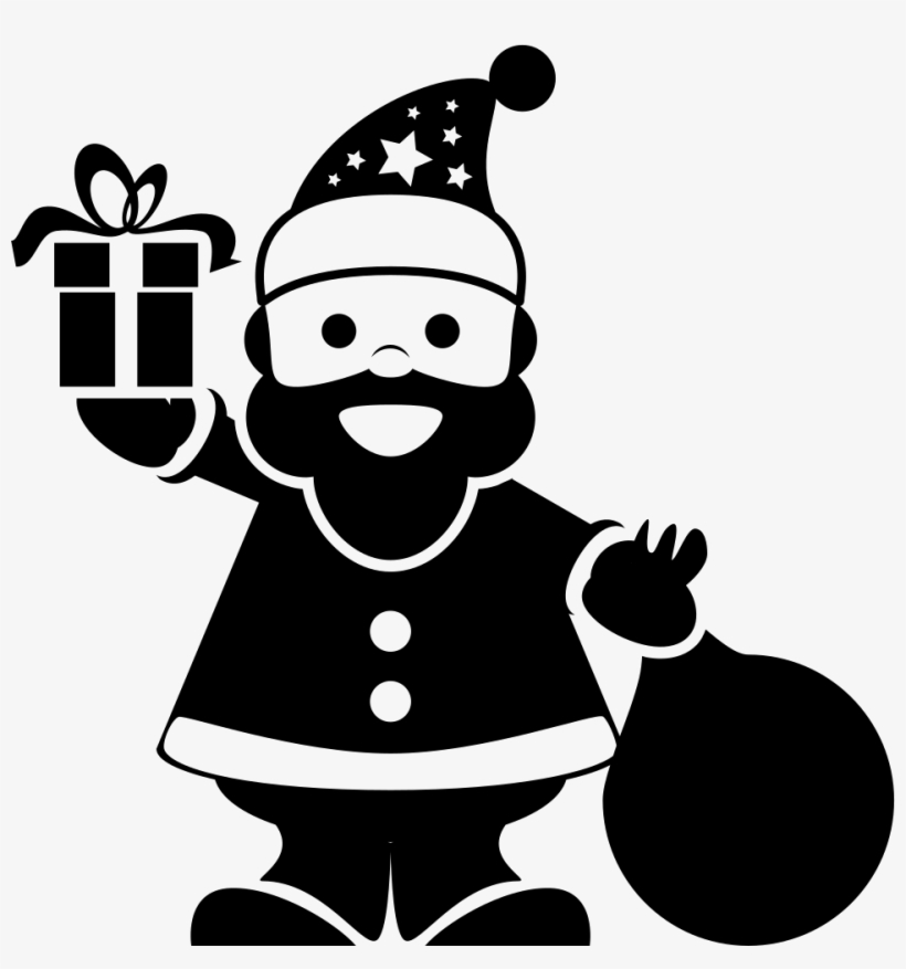Png File - Silueta De Santa Claus, transparent png #5968327