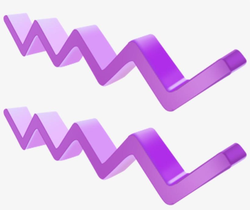 Ftestickers Geometric 3d Lines Stripes Line Pattern - خط بنفسجي, transparent png #5969295