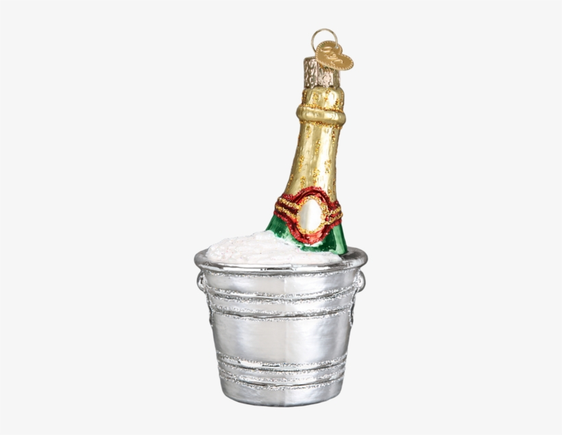 Chilled Champagne Bucket Ornament - Bassett Hound Glass Ornament By Old World Christmas, transparent png #5970908