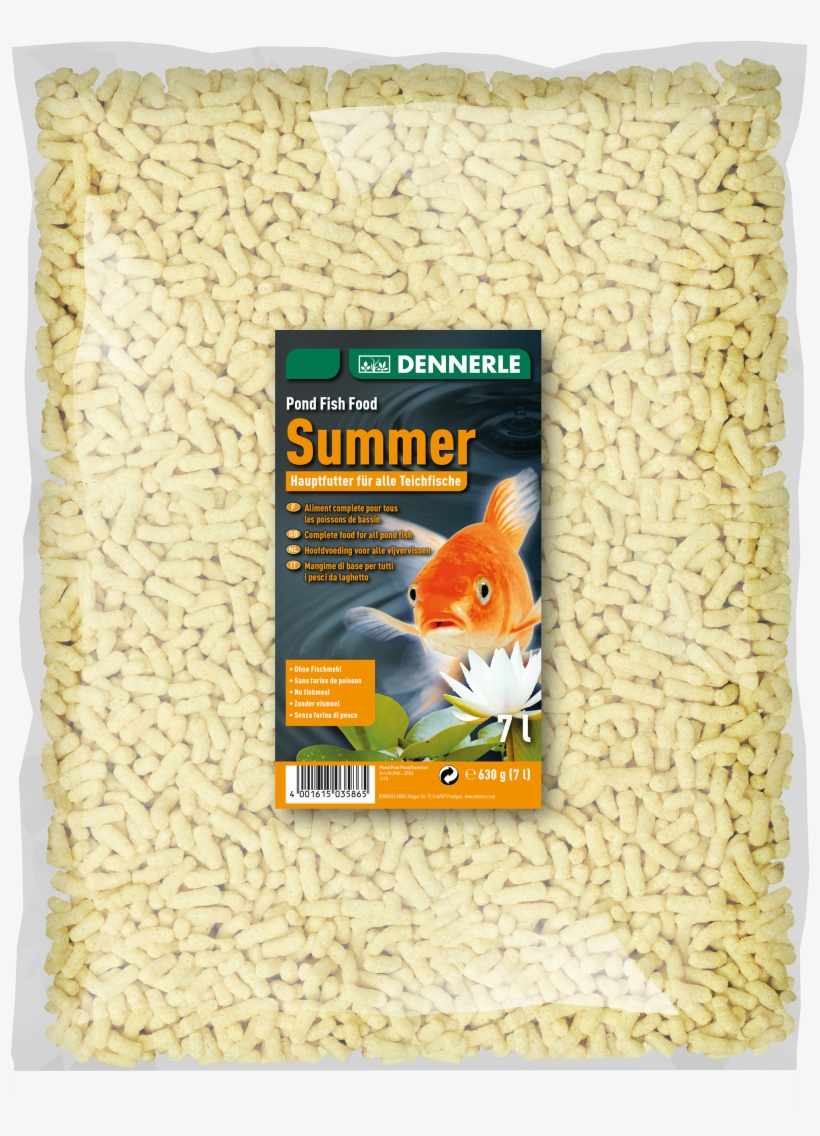 Dennerle Summer Pond Fish Food 7l, transparent png #5976525